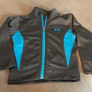 Under Armour 4T boys jacket Blue Gray full zip